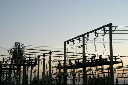 Detail of a power distribution substation. Stock Photo - 311146