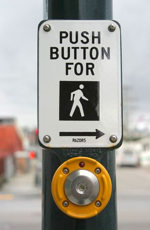 Push this button to cross.
