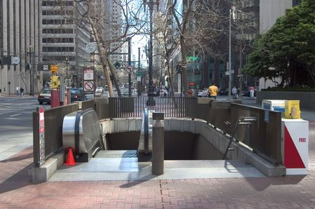The entrance to the city subway. Stock fotó