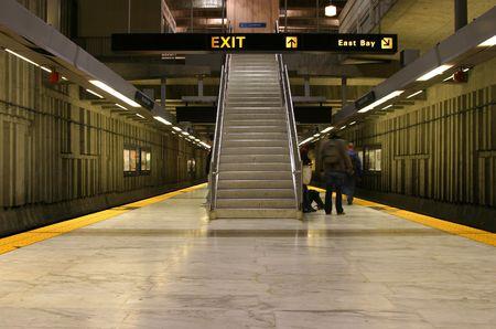 An underground Bay Area Rapid Transit station in San Francisco.