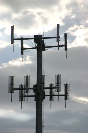 A cell phone booster tower.