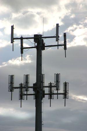 Een mobiele telefoon donorlading toren. Stockfoto