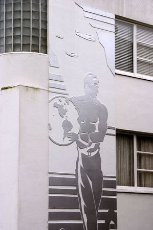 artdeco: An old apartment in San Francisco with an art-deco facade.