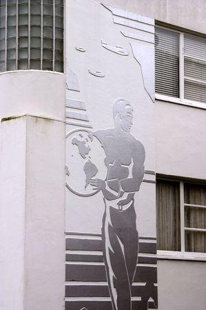 artdeco: Un viejo apartamento en San Francisco con un art-deco fachada.