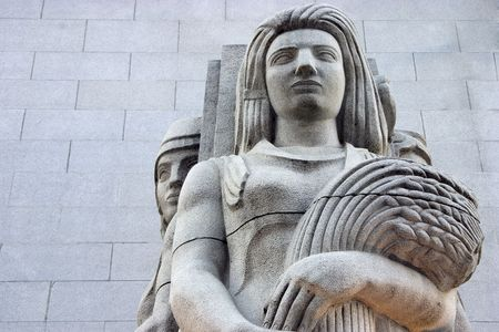 A deco detail to the exterior of a building.