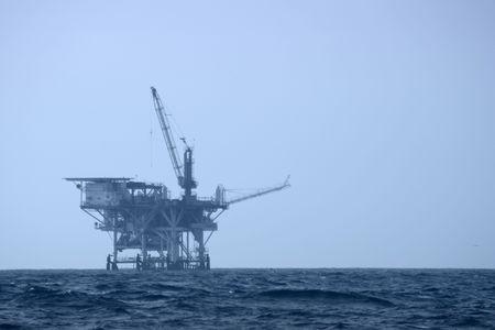 drilling platform: An offshore drilling platform Stock Photo