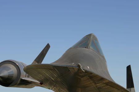 clandestine: An SR-71 spy-plane viewed from below.