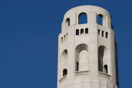 artdeco: A detailed view of Coit Tower in San Francisco.    Stock Photo