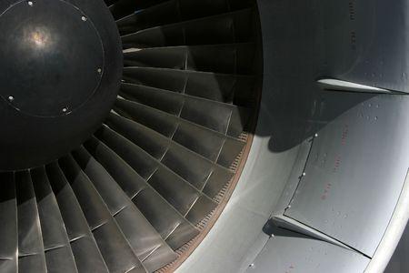 turbofan: Una vista de detalle de 747 aviones turbo-ventilador de motor de la ingesta.