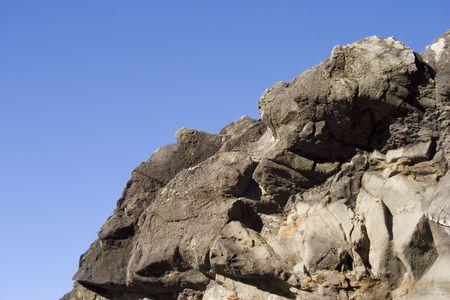 A horizon of jagged rocks. Stock fotó