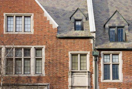 The face of an old brick house. Reklamní fotografie