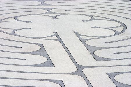 enigma: The mazelike labyrinth with its roots in Greek mythology.