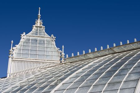 conservatory: An ornate greenhouse in San Francisco, California.