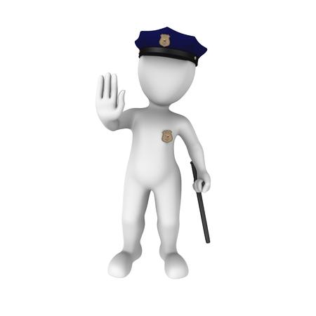 forbids: 3d policeman forbids