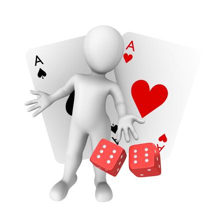 gambler: 3d clipart lucky gambler