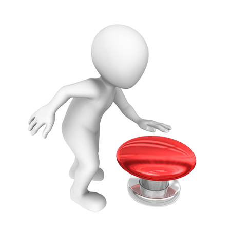 press button: 3d clipart red button