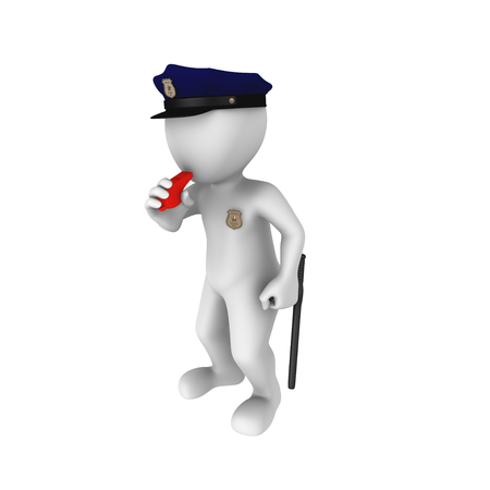 security icon: Police alarm Stock Photo