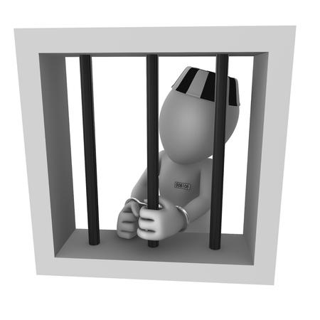 carcel: El preso en la c�rcel Foto de archivo