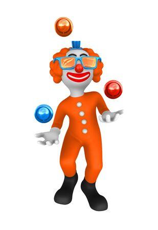 juggler: 3d clown. Juggler