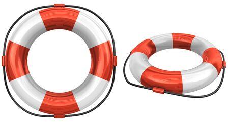 3d: 3d lifebuoy. Stock Photo