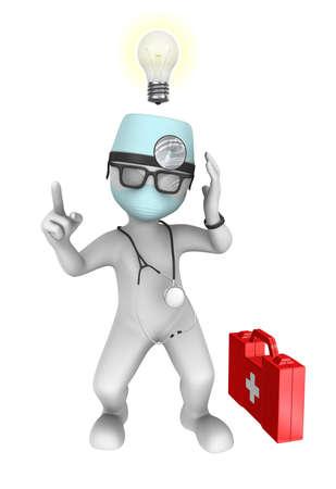 medics: 3d doctor with idea Stock Photo
