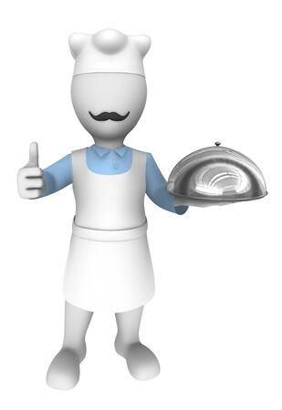 thumbs up: 3d cook. Thumbs up gesture.