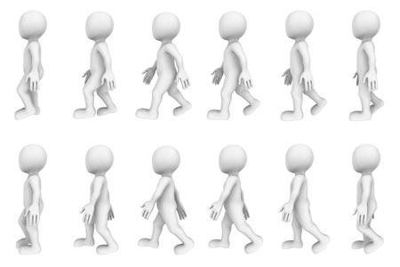 3d wandelen cyclus (3d karakter animatie)