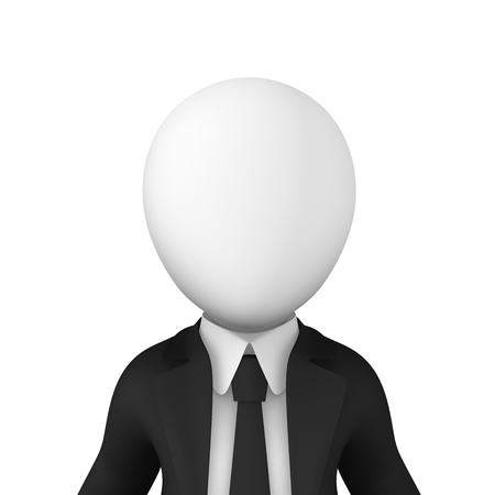 3d business people. Awatar of businessman in black suite isolated on white background. 3d illustration. Zdjęcie Seryjne