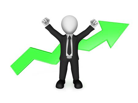 3d business people. Business success concept. 3d illustration.