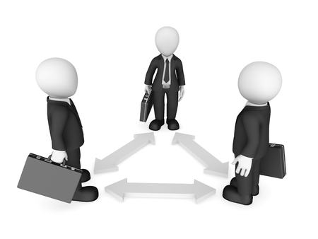 3d business small people. Teamwork, relations concept. 3d illustration.