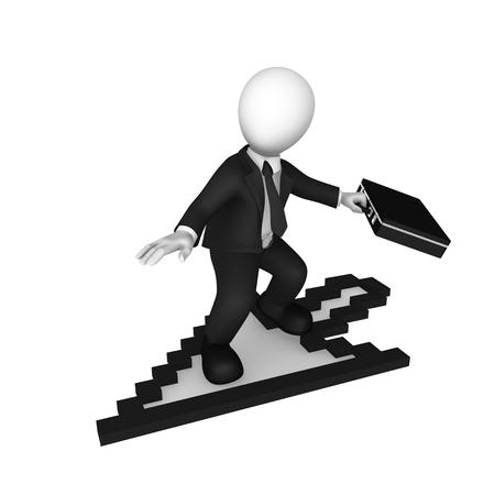 3d white businessman with mouse cursor. 3d illustration.
