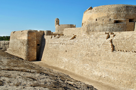 Bahrain National Castle in sunny day