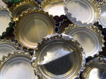 macro photo of beer corks