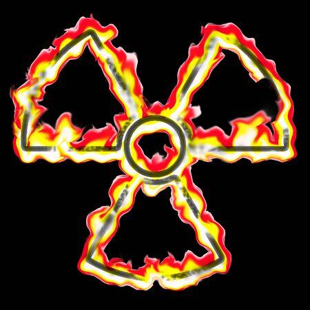 illustration of the burning radiation sign Stock Illustration - 3581785