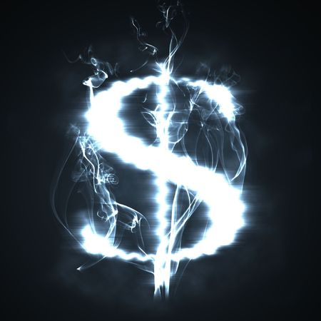illustration of the burning dollar sign