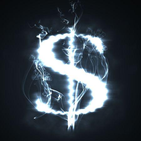 illustration of the burning dollar sign