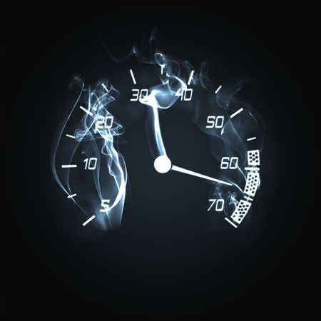 illustration of the odometer in the smoke