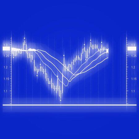 illustration of the stock market chart illustration