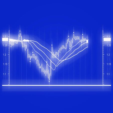illustration of the stock market chart Stock Photo