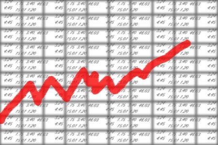 illustration of the stock market chart Stock Illustration - 4805562