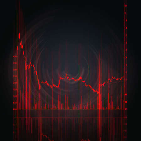 illustration of the red stock market chart Stock Illustration - 4845296