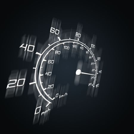 illustration of blured spedometer in perspective Stock Illustration - 5377924