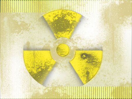 black and yellow nuclear background Stock Photo - 5504186