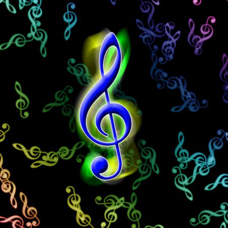 quavers: illustration of the different color music signs