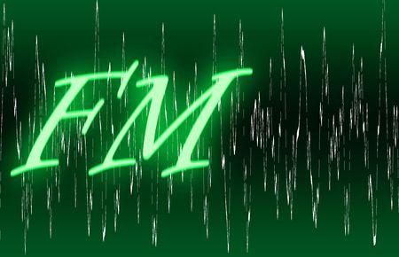 audiowave: illustration of radio band and fm type