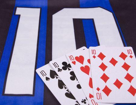 numero diez: Foto de uniforme n�mero diez y tarjetas