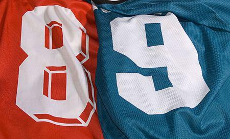 Foto del equipo diferente uniformes de ocho y nueve Foto de archivo - 6047682