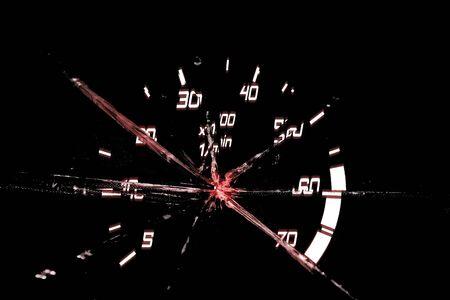 autosport: illustration of broken odometer