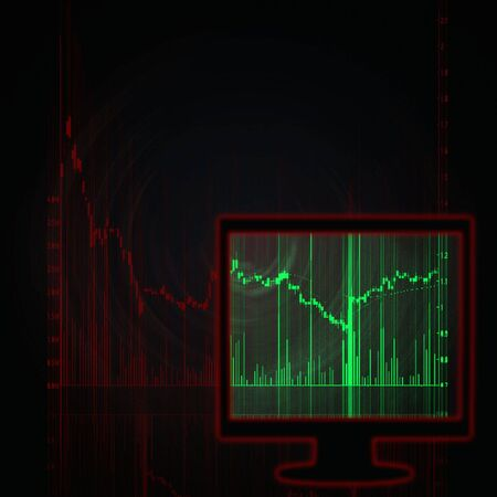 illustration of the red stock market chart Stock Illustration - 6169830
