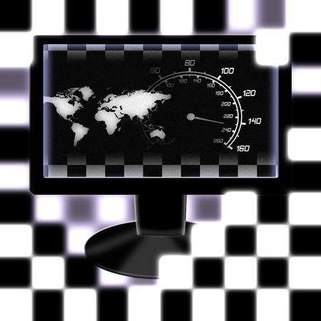 illustration of the around the world racing monitor illustration